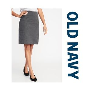New Old Navy Gray Stretch Pencil Skirt